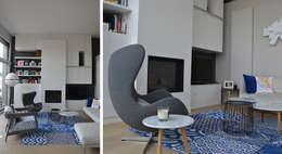 Salon - Duplex Boulogne: Salon de style de style Moderne par A comme Archi