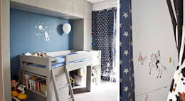 modern Nursery/kid's room by A comme Archi