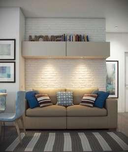ЖК Отрада: Гостиная в . Автор – Massimos / cтудия дизайна интерьера