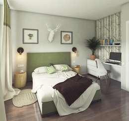 Massimos / cтудия дизайна интерьера: iskandinav tarz tarz Yatak Odası