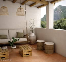 Terrazza in stile  di Equipe Ceramicas
