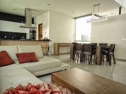Casa Zaragoza: Salas de estilo moderno por Abraham Cota Paredes Arquitecto