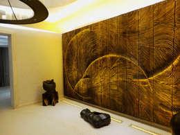 Riyadh House: Salas de estilo moderno por arqflores / architect