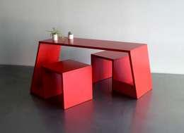 VIZAVI: Bureau de style de style eclectique par Prégnance