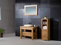 minimalistische Badkamer door Stonearth Interiors Ltd