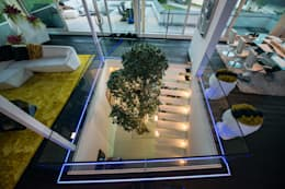 Dynamisches architektenhaus mit faszinierendem interieur - Bodenstrahler wohnzimmer ...