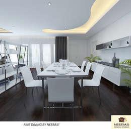 Fine Dining By Neeras:  Dining room by Neeras Design Studio