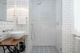 NOMADE ARCHITETTURA E INTERIOR DESIGN: endüstriyel tarz tarz Banyo