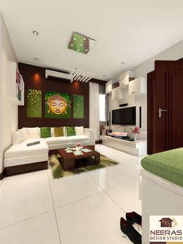 Neeras Living Room:  Living room by Neeras Design Studio