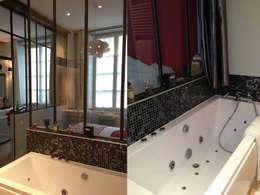 Appartement dans quartier historique de Dijon: Salle de bain de style de style Moderne par Kreatitud Deco Design
