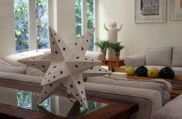 Lampara estrella 2: Salas de estilo ecléctico por TACAMACA