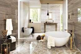 Plaza Yapı Malzemeleri – Mermer Seramik: modern tarz Banyo