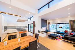 Salas / recibidores de estilo moderno por Helwig Haus und Raum Planungs GmbH
