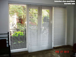 Wooden Blinds, Bass wood Blinds : asian Living room by Louverline Blinds