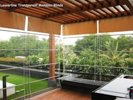 Weather Blinds, Transparent Monsoon Blinds:   by Louverline Blinds