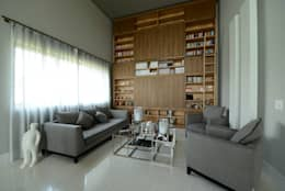 غرفة المعيشة تنفيذ M A+D Menzo Architettura+Design