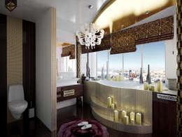 Интерпретация арт-деко: Ванные комнаты в . Автор – Decor&Design