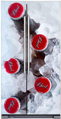 Fotomural nevera Cervezas con hielo: Paredes y suelos de estilo moderno de Goodvinilos