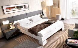 Dormitorios de matrimonio: Dormitorios de estilo moderno de Mueblalia