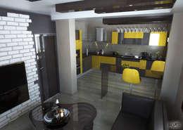 ROAS Mimarlık – 3d Proje Göreseli: modern tarz Mutfak