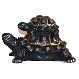 Polyresin Mother & Baby Turtle Figurines:  Artwork by M4design