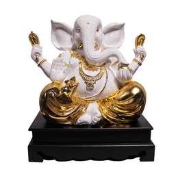 Lord Ganesha Polystone Statue:  Artwork by M4design