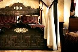 dizayn perde – İsa begov hotel sarajova: klasik tarz tarz Yatak Odası