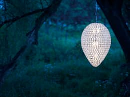 Frost pendant at dusk close up landscape: classic Dining room by The Lighting Store
