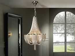 Chandelier 2: classic Living room by The Lighting Store