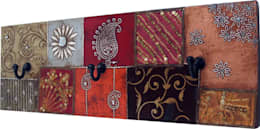 Exotisches Vintage - Wandhalter fürs Bad:  Badezimmer von Guru-Shop