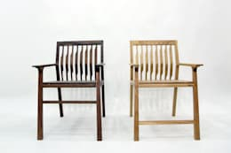 Kinetic Line_Arm Chair: artiZAC의  서재/사무실