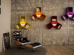 Ypsilon: Soggiorno in stile in stile Moderno di d-Lab studio
