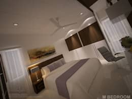Residence Interior: modern Houses by 4D Space Designers