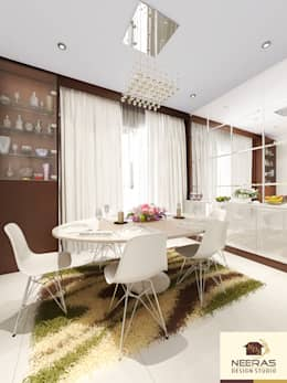Neeras Dining:  Dining room by Neeras Design Studio