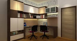 Study Room :  Study/office by Neeras Design Studio