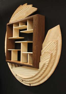 La Disquothèque II: Salon de style de style eclectique par Atelier Koad Bras