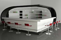 Bar Counter :  Commercial Spaces by Neeras Design Studio