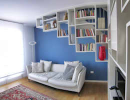 Casa V+G: Soggiorno in stile in stile Moderno di di-ma