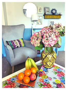 eclectic Living room by Crow's Nest Interiors