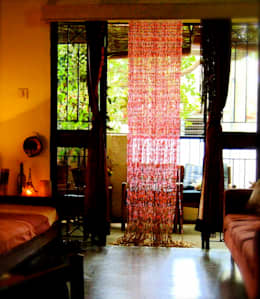 rustic Living room by Memories of a Butterfly: bead curtains/screens/installations/Hanging Sculptures