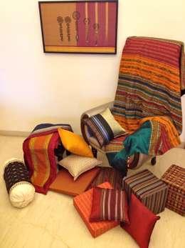 Intriguing Ikats : asian Bedroom by TUNI Interiors Pvt. Ltd.
