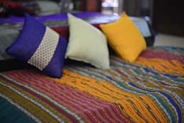 Intriguing Ikats : asian Bedroom by TUNI Interiors Pvt. Ltd.