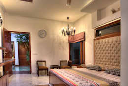 Bedroom: modern Houses by Studio An-V-Thot Architects Pvt. Ltd.