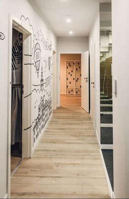 89m,Kamionek, Wwa: styl , w kategorii Korytarz, przedpokój zaprojektowany przez dziurdziaprojekt