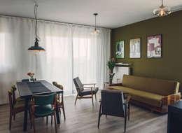 89m,Kamionek, Wwa: styl , w kategorii Salon zaprojektowany przez dziurdziaprojekt