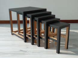DIRI - tables gigognes: Salon de style de style eclectique par Mathieu Le Guern