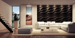 Loft Design System Deutschland: modern tarz Oturma Odası