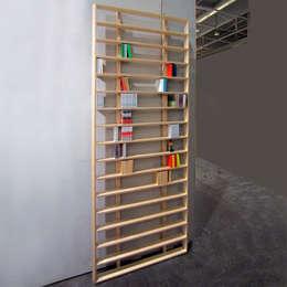 WallBook / WallDisc: Salon de style de style Minimaliste par design