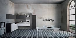 Italian Modular Kitchens: minimalistic Kitchen by Grandeur Interiors