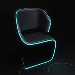 Lamed Chair design © Rodolphe Pauloin: Salon de style de style Moderne par luxense design